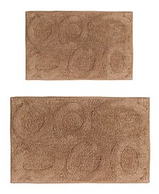 "Pebble 21"" x 34"" and 24"" x 40"" 2-Pc. Bath Rug Set"