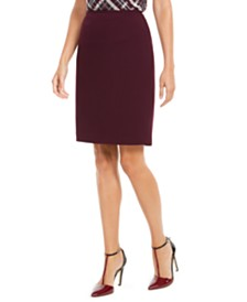 Calvin Klein Petite Soft Crepe Pencil Skirt
