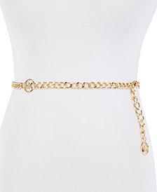 Michael Michael Kors MK Logo Chain Belt
