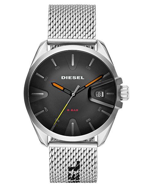 Diesel Men's MS9 Stainless Steel Mesh Bracelet Watch 43mm