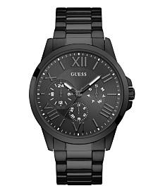 GUESS Men's Black  Multi-Function and Black Bracelet Watch 46mm