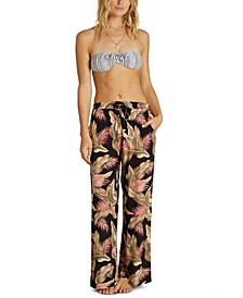 Juniors' Heart Beats Floral-Print Soft Pants
