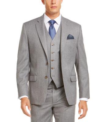 Men's Classic-Fit UltraFlex Stretch Light Gray Suit Separate Jacket