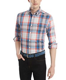 Tommy Hilfiger Men's Custom-Fit Stretch Sammy Plaid Shirt, Created for Macy's