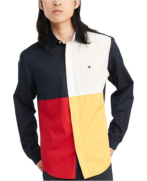 Tommy Hilfiger Men's Custom-Fit Talon Pieced Shirt, Created for Macy's