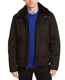 Calvin Klein Men's Faux Short Shearling Jacket, Created For Macy's