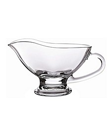 Large Crystal Gravy Sauce Boat