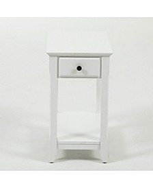 Slim Single Drawer End Table
