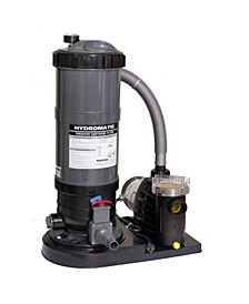 Hydro 120 Sq.-Ft Cartridge Filter System with 1.5 HP Pump for Above Ground Pools