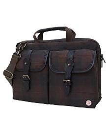 """Token Waxed Knickerbocker 15"""" Laptop Bag"""
