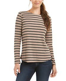 Charter Club Heather Long-Sleeve Top, Created for Macy's