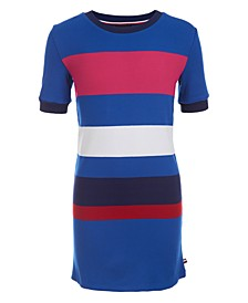 Little Girls Ribbed Colorblocked Dress