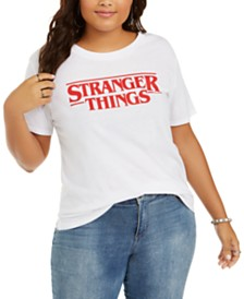 Love Tribe Trendy Plus Size Stranger Things Graphic T-Shirt