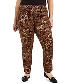 Plus Lexington Animal-Print Jeans, Created for Macy's