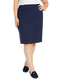 Charter Club Plus Size Pencil Skirt, Created for Macy's