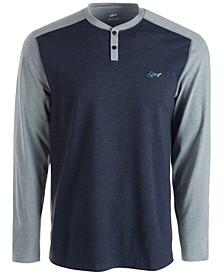 Men's Colorblocked Henley Shirt