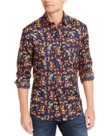 Club Room Men's Floral Print Shirt, Created for Macy's