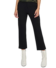 Oxford Cropped Capri Pants