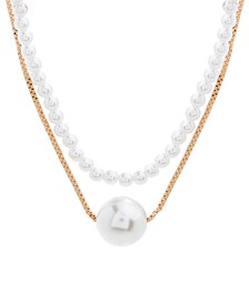 Imitation Pearl Layered Necklace