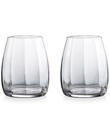 Waterford Optic Double Old Fashioned Pair