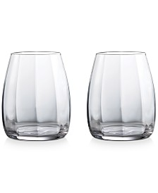 Waterford Elegance Optic Double Old Fashioned Pair