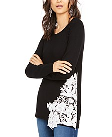 INC Lace-Hem Sweater, Created for Macy's