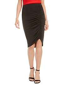 Ruched Asymmetrical Skirt, Created for Macy's