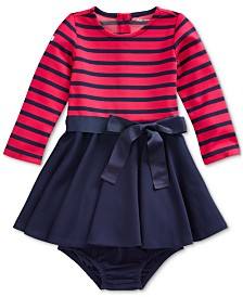 Polo Ralph Lauren Baby Girls Ponte Strip Dress