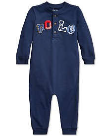 Polo Ralph Lauren Baby Boys Mesh Polo Coverall