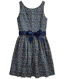 Polo Ralph Lauren Big Girls Cotton Poplin Dress