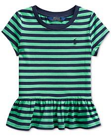 Polo Ralph Lauren Toddler Girls Stripe Cotton Shirt