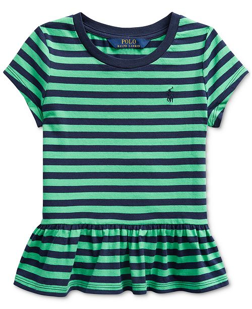 Polo Ralph Lauren Toddler Girls Stripe Cotton Shirt