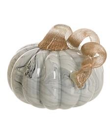 Glitzhome Small Short Glass Pumpkin