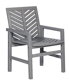 Outdoor Chevron Chair, Set of 2