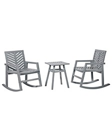 3 Piece Outdoor Rocking Chair Chat Set