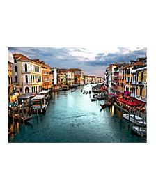 """- Venician Canal Canvas Art, 54"""" x 36"""""""