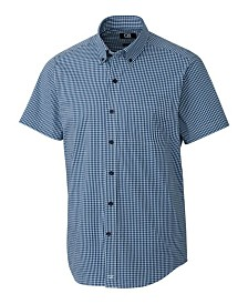 Cutter and Buck Men's Big and Tall Anchor Gingham Short Sleeve Shirt