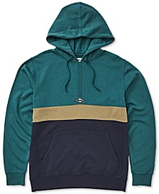 Men's Wave Colorblocked Half-Zip Hoodie