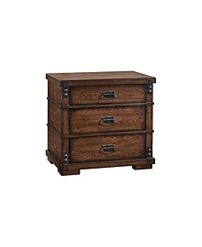 Quincy 3 Drawer Vintage Nightstand, Quick Ship