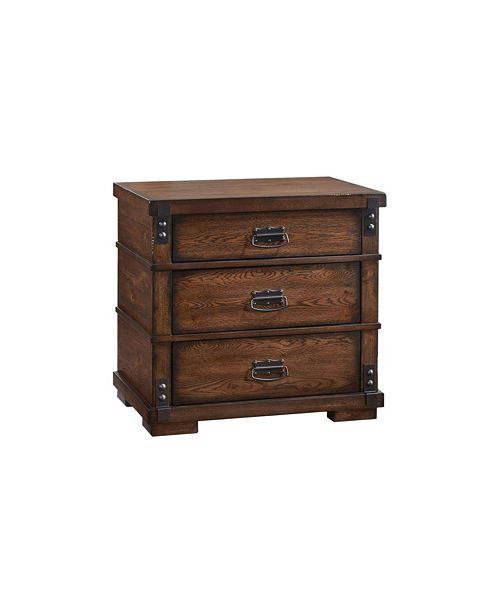 Abbyson Living Quincy 3 Drawer Vintage Nightstand