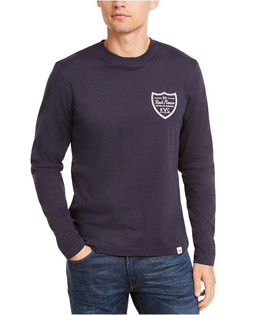 Brooks Brothers Men's Red Fleece Logo Graphic T-Shirt