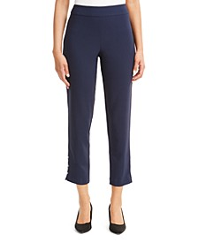 Petite Side-Detail Skinny Ankle Pants, Created For Macy's