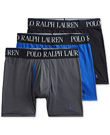 폴로 랄프로렌 속옷 하의 3세트 Polo Ralph Lauren Mens 3-Pk 4-D Flex Cool Microfiber Boxer Briefs