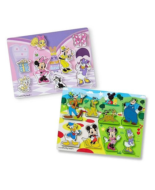 Melissa and Doug Disney Chunky Puzzle Bundle 1