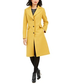 kate spade new york Single-Breasted Walker Coat