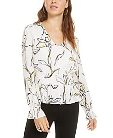 Floral-Print Smocked Top, Created for Macy's
