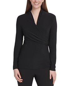 DKNY Side-Ruched Top