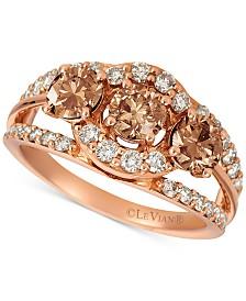 Le Vian® Chocolate Diamond® & Nude Diamond™ (1-3/4 ct. t.w.) Ring