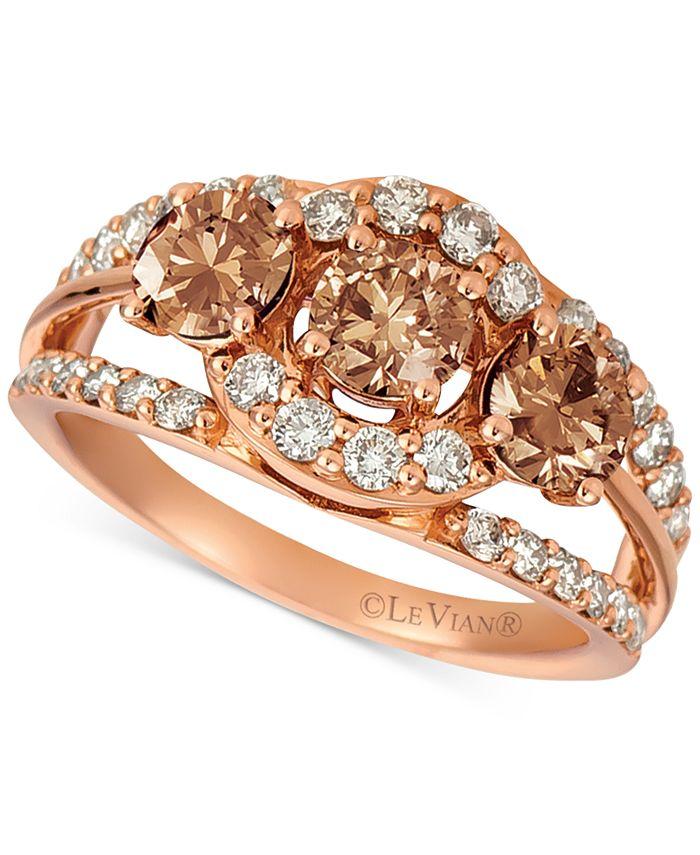 Le Vian - Chocolate, Nude™ Chocolate Diamond® & Nude Diamond™ (1-3/4 ct. t.w.) Ring