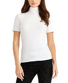 RACHEL Rachel Roy Cotton Turtleneck Top